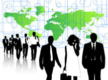 Business people and map Royalty Free Stock Image