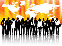 Business people and map Royalty Free Stock Photos