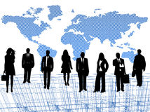 Business people and map Royalty Free Stock Photo