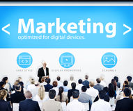 Business People Marketing Presentation Concepts Stock Photo