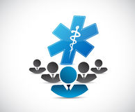 business people and medical symbol concept Royalty Free Stock Photo