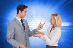 Business people meet each other Royalty Free Stock Images