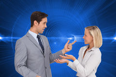 Business people meet each other stock images