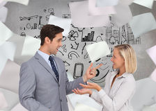 Business people meet each other Royalty Free Stock Photos