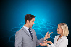 Business people meet each other Royalty Free Stock Photography