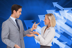 Business people meet each other Stock Photo