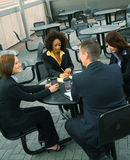Business People Meeting. Group of diversity business people have a business discussion. caucasian, african american, asian Royalty Free Stock Photos