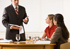 Business people in a meeting Royalty Free Stock Images