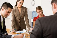 Business people in a meeting Stock Images