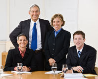 Business people in meeting. Business team around a conference table Stock Photo