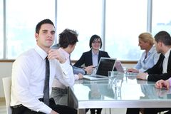 Business people at meeting Stock Image