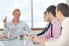 Business people at meeting Stock Images