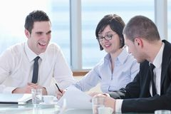 Business people at meeting Royalty Free Stock Images