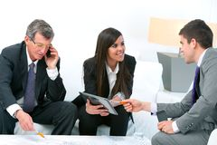 Business people at meeting. Stock Images