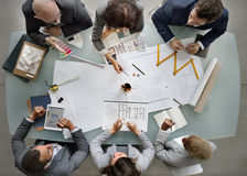 Business People Meeting Architecture Blueprint Design Concept Royalty Free Stock Image