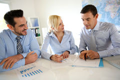 Business partners in a meeting Royalty Free Stock Photo