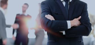 Blurred abstract background of business discussion people group. Royalty Free Stock Images