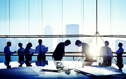 Business People Meeting Bowing Japanese Culture Concept Stock Photos