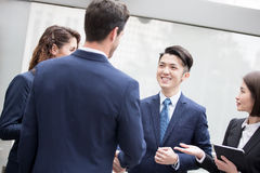 Business people meeting. Businesspeople meeting in office in hong kong royalty free stock image