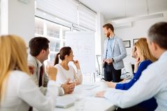 Business people meeting royalty free stock image