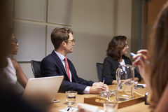 Business people at a meeting, close up, selective focus Royalty Free Stock Photography