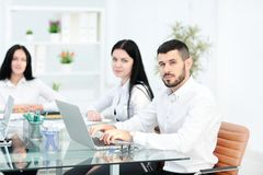 Business People Meeting Communication Discussion Working Office Concept. In office Royalty Free Stock Photo