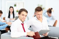 Business People Meeting Communication Discussion Working Office Concept. In office Stock Photos