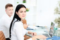 Business People Meeting Communication Discussion Working Office Concept. In office Stock Image