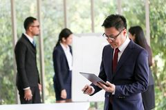 Business People Meeting Communication Discussion Working Office ,Meeting Corporate Success Brainstorming Teamwork Concept royalty free stock image