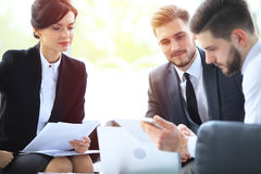 Business People Meeting Conference Discussion Corporate Concept. stock photo