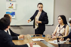 Business People Meeting Conference Discussion Corporate Concept, Stock Image