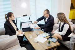 Business People Meeting Conference Discussion Corporate Concept,. Business team,business partners discussing documents and ideas,Business conference in a modern Royalty Free Stock Photo