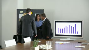 Business people meeting in conference room stock video footage