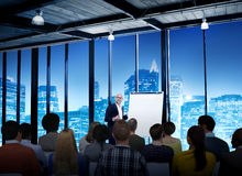 Business People Meeting Conference Speaker Presentation Concept Royalty Free Stock Images