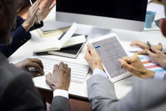 Business People Meeting Connection Communication Email Concept Stock Image
