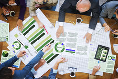 Business People Meeting Corporate Analysis Research Office Conce Stock Photo