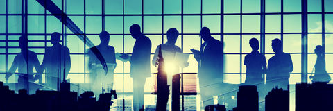 Business People Meeting Corporate Commuter Walking Concept Royalty Free Stock Photography