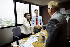 Business People Meeting Corporate Handshake Greeting Concept Stock Photo