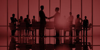 Business People Meeting Corporate Handshake Greeting Concept Stock Photos
