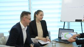 Business People Meeting stock video