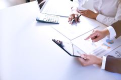 Business People Meeting Design Ideas professional investor working new start up project. Concept. business planning in office.  stock photography