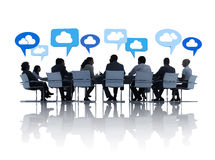 Business People in a Meeting with Different Ideas Stock Photo