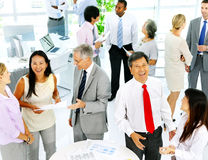 Business People in a Meeting with Different Ideas Stock Image