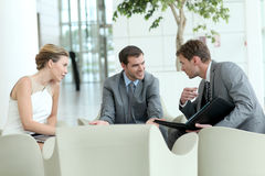 Business people meeting and discussing royalty free stock image