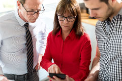 Business people in meeting discussing about financial results Royalty Free Stock Image