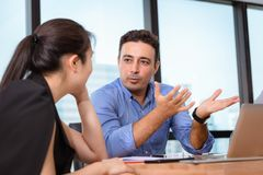 Business People are Meeting Discussing About Their Project and  Problem Solving in Conference Room, Professional Manager is. Explaining to His Partnership royalty free stock image