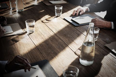 Business People Meeting Discussion Agreement Negotiation Concept Royalty Free Stock Photo