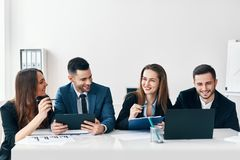 Business people meeting discussion concept stock photos