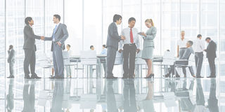 Business People Meeting Discussion Corporate Handshake Concept Royalty Free Stock Photos
