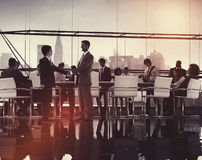 Business People Meeting Discussion Handshake Greeting Concept Royalty Free Stock Photography